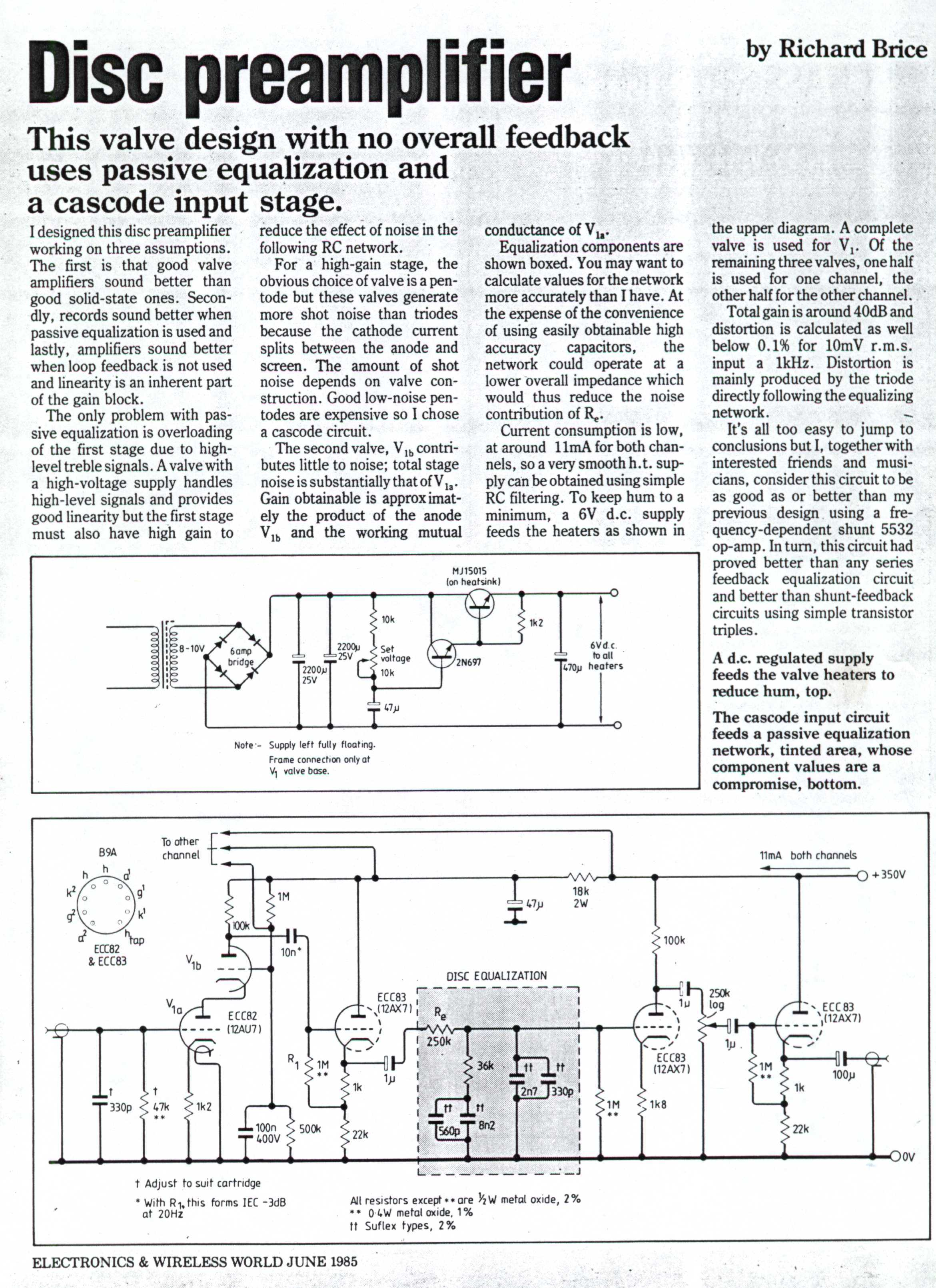 Tone Control Schematic Input Explore Wiring Diagram Free Project Circuit Passive Baxandall Preamp Active