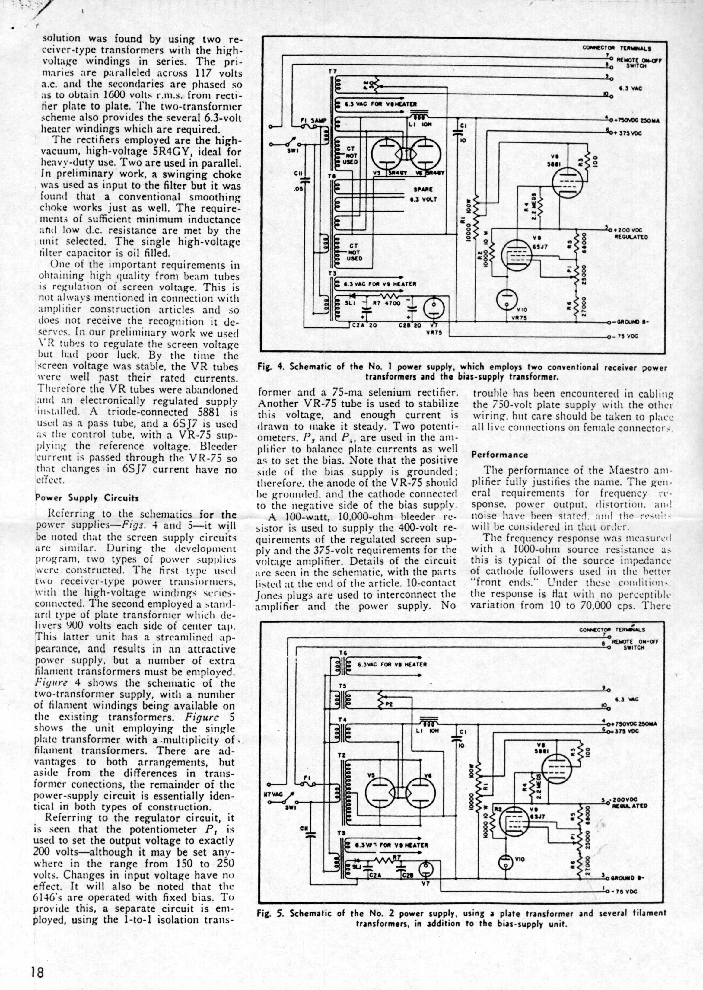 A515 The Original Williamson Hifi Amplifier Schematic As Published In Page 3